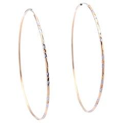 14 Karat Tri Tone Hoop Earrings