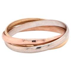 14 Karat Tri-Tone Rolling Ring
