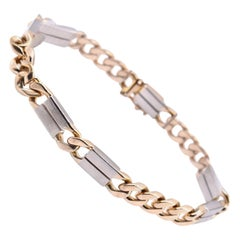 14 Karat Two-Tone Custom Cuban Link Bracelet