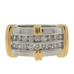 14 Karat Two-Tone Diamond Band .75 Carat