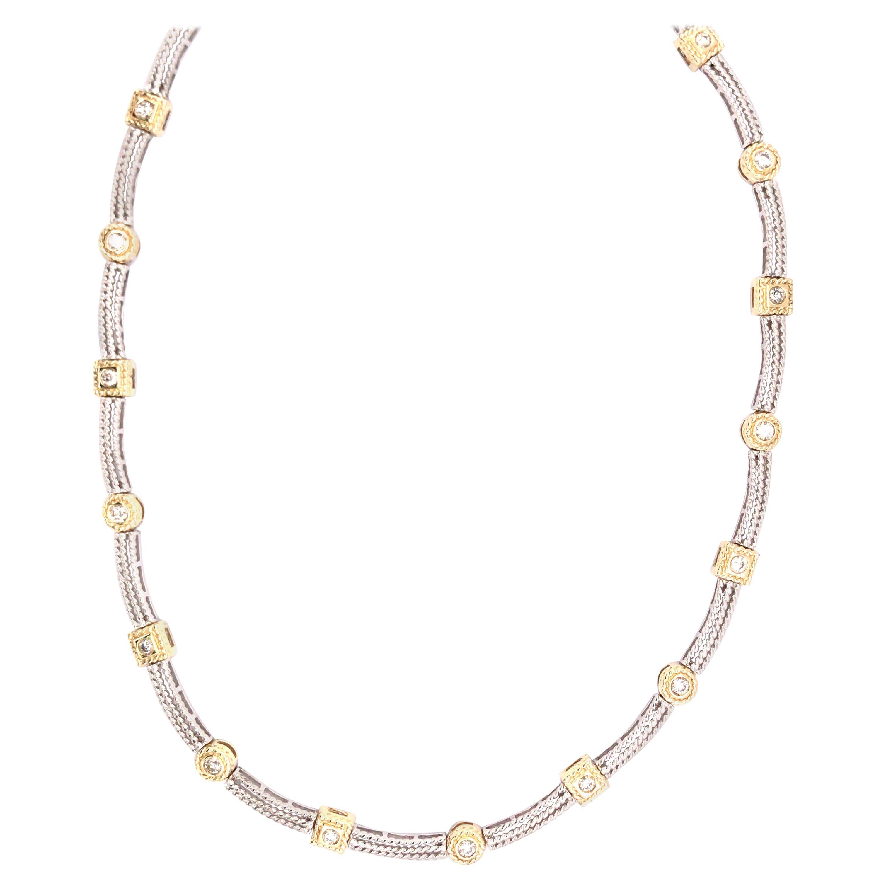 14 Karat Two-Tone Diamond Necklace