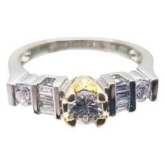 14 Karat Two-Tone Diamond Ring