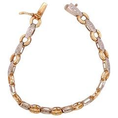 14 Karat Two-Tone Fancy Link Bracelet