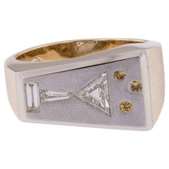 14 Karat Two-Tone Gold and Fancy Diamond Martini Ring