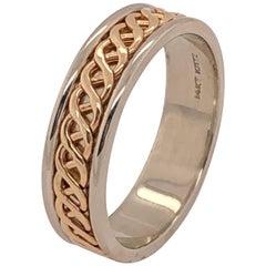 14 Karat Two-Tone Gold Band Ring / Bridal or Wedding Ring