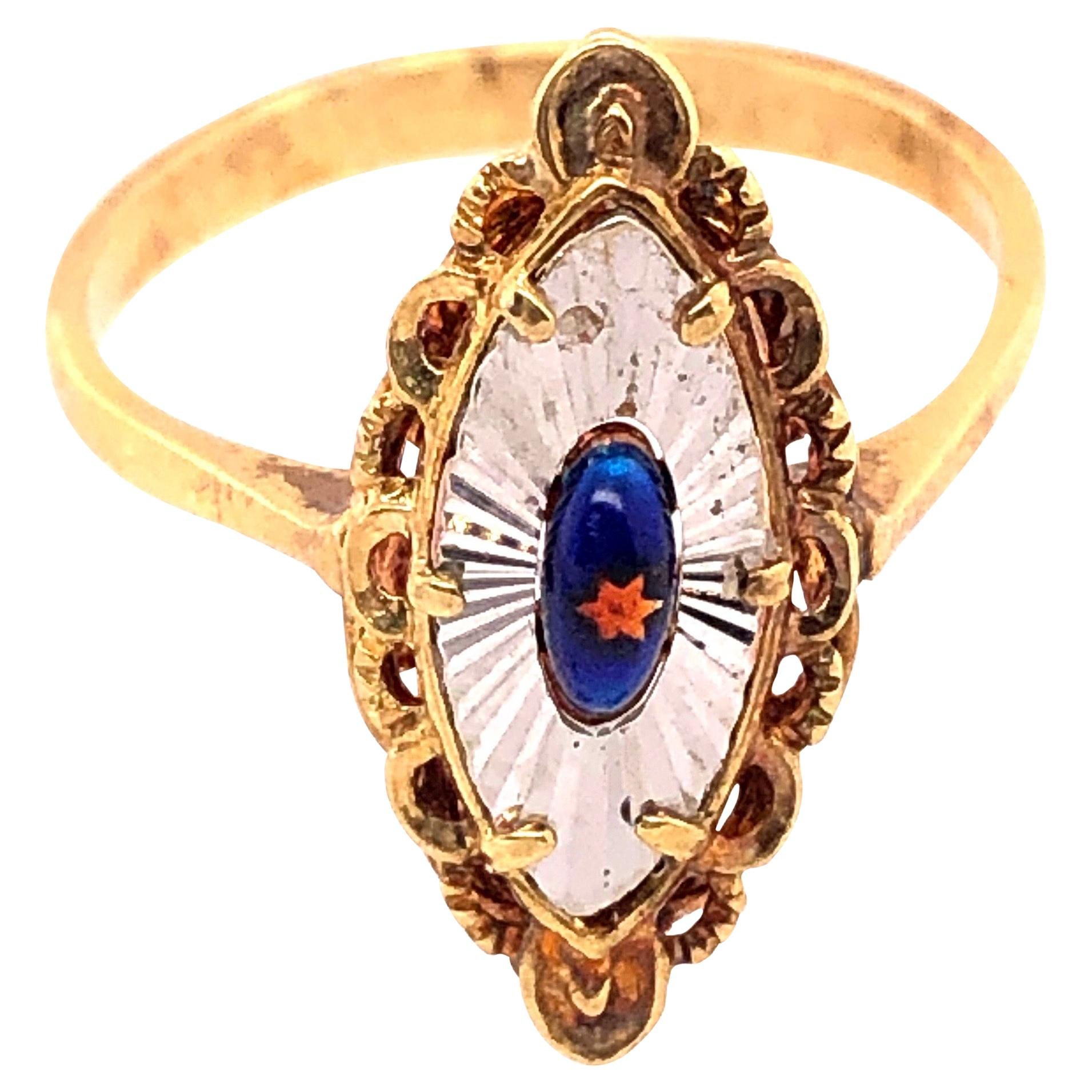 14 Karat Two-Tone Gold Contemporary Ring