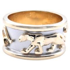 14 Karat Two-Tone Gold Panther Ring