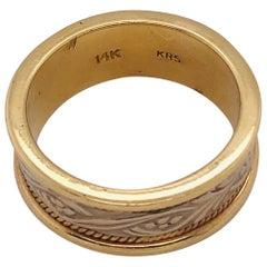 14 Karat Two-Toned Gold Fashion Wedding Ring
