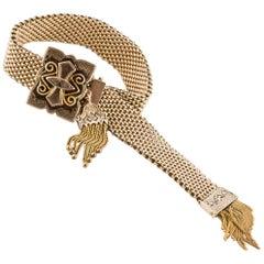 14 Karat Victorian Tassel Bracelet
