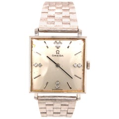 14 Karat Vintage Omega Men's Watch White Gold