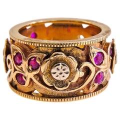 14 Karat Vintage Ruby Ladies Ring