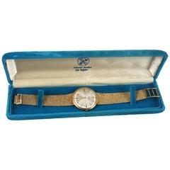 14 Karat Vintage Yellow Gold Geneva Bracelet Watch