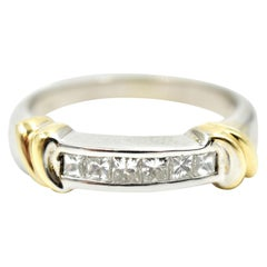 14 Karat White and Yellow Gold Diamond Band