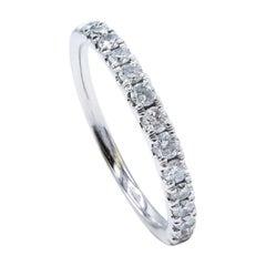14 Karat White Gold 0.33ctw Round Brilliant Cut Diamond Band Ring