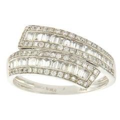 14 Karat White Gold 0.75 Carat Diamonds Wedding Band Ring