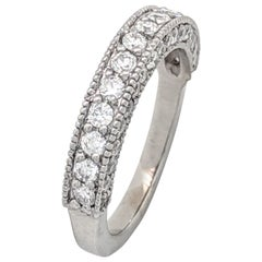 14 Karat White Gold 1 Carat Diamond Stackable Anniversary Wedding Band