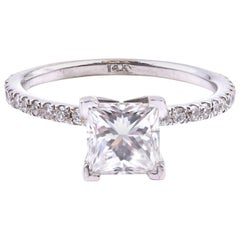 14 Karat White Gold 1.02 Carat Diamond Engagement Ring