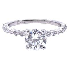 14 Karat White Gold 1.25 Carat Diamond Engagement Ring