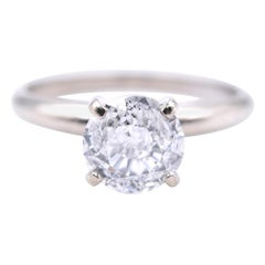 14 Karat White Gold 1.50 Carat Diamond Solitaire Engagement Ring UGL Certified