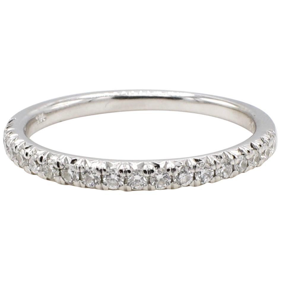 14 Karat White Gold .20 Carat Diamond Wedding Band Ring