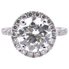 14 Karat White Gold 3.00 Carat Diamond Engagement Ring