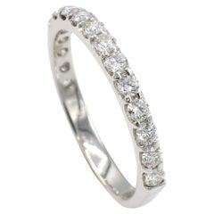 14 Karat White Gold .50 Carat  Round Diamond Wedding Band Ring