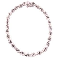 14 Karat White Gold Bracelet