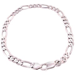 14 Karat White Gold Fancy Link Bracelet