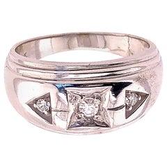 14 Karat White Gold and Diamond Band Wedding Bridal Ring