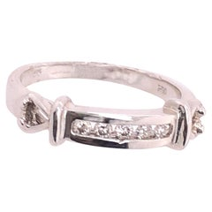 14 Karat White Gold and Diamond Band Wedding Ring Bridal