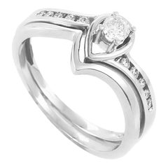 14 Karat White Gold and Diamond Bridal Set BR1035WE