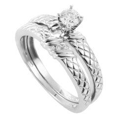 14 Karat White Gold and Diamond Bridal Set BR1036WE