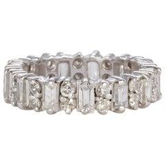 14 Karat White Gold and Diamond Eternity Wedding Band 2.00 Carat