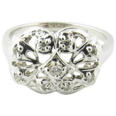 14 Karat White Gold and Diamond Ring