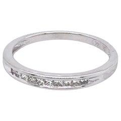 14 Karat White Gold and Diamond Wedding Band