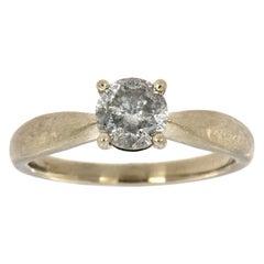 14 Karat White Gold Aponi Salt and Pepper Diamond Ring 'Center- 1.18 Carat'
