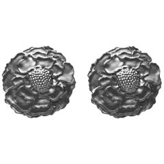 14 Karat White Gold Black Rhodium Marigold Cufflinks