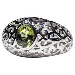 14kt White Gold Tourmaline and Diamond Ring