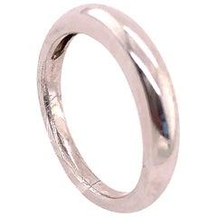 14 Karat White Gold Bridal Band Wedding Ring