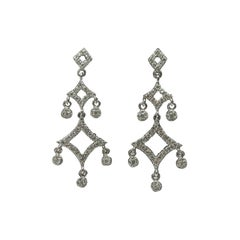 "14 Karat White Gold ""Chandelier"" Diamond Earrings"