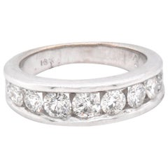 14 Karat White Gold Channel Set Diamond Band