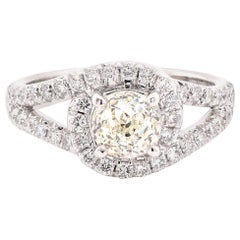 14 Karat White Gold Crown of Light Diamond Engagement Ring