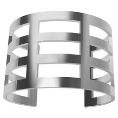 14 Karat White Gold Cuff Bracelet