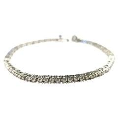 14 Karat White Gold Custom Made Tennis Bracelet Diamond 2.15 Carat
