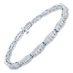 14 Karat White Gold Diamond 3.6 Carat Bracelet