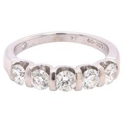 14 Karat White Gold Diamond Band