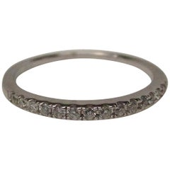 14 Karat White Gold Diamond Band Ring