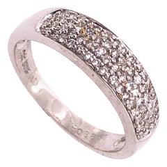 14 Karat White Gold Diamond Bridal Ring 1.00 TDW