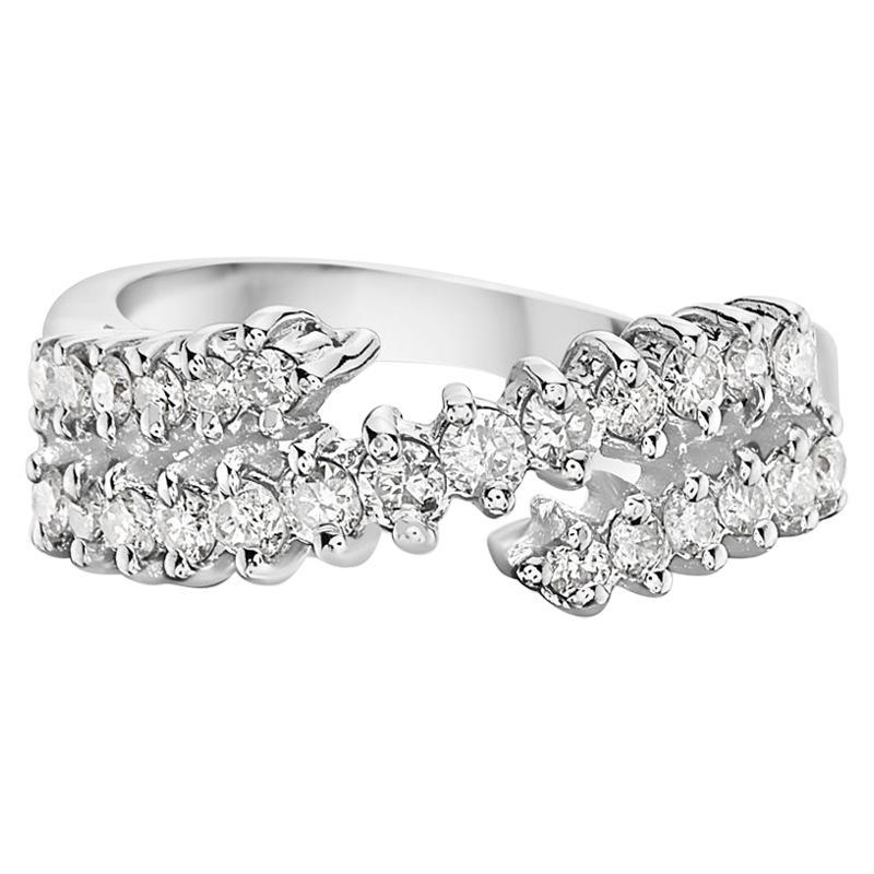 14 Karat White Gold Diamond Cocktail Ring