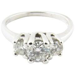 14 Karat White Gold Diamond Engagement or Anniversary Ring